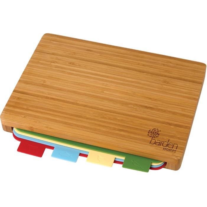 5 Pc Bamboo Cutting Board Set