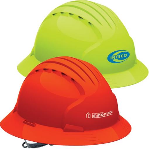 Evolution 6141 Full Brim Hi-Vis Hard Hat
