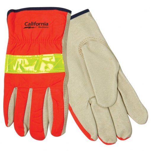 Hi-Viz Leather Driver's Glove