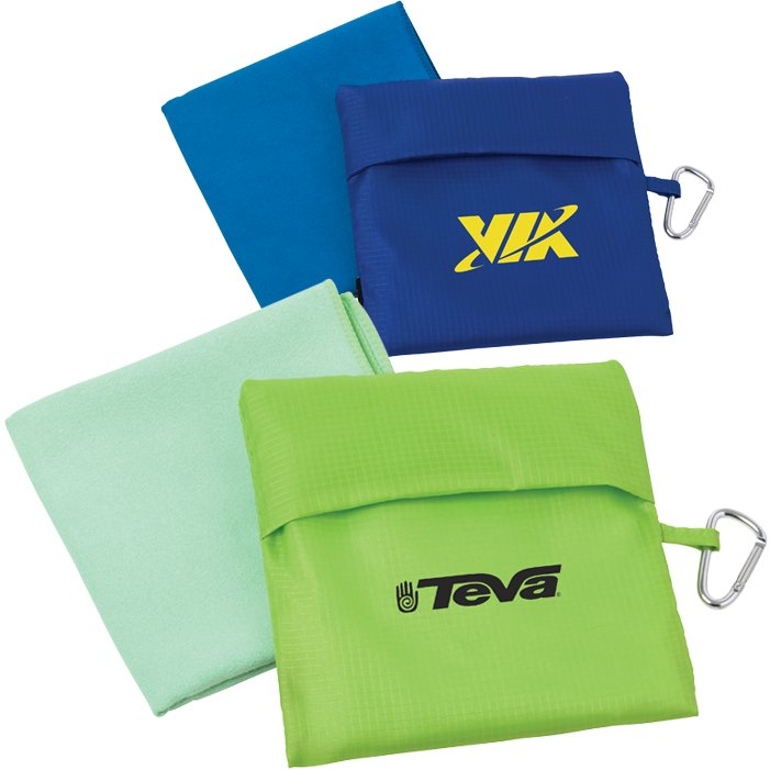 Microfiber Cloth Examples: Microfiber Towel W/Pouch