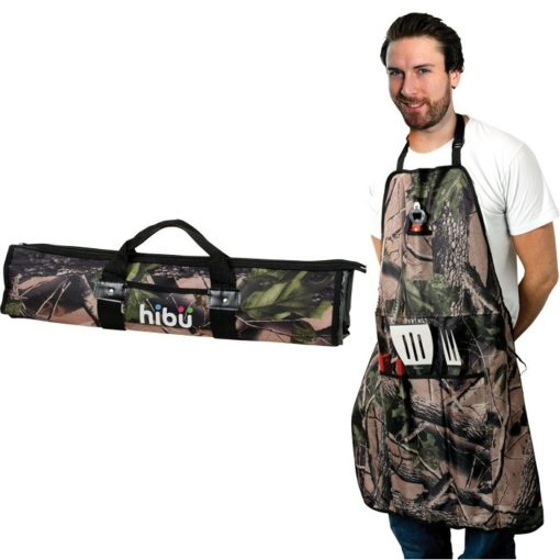 Camo 5 Piece BBQ Apron Set