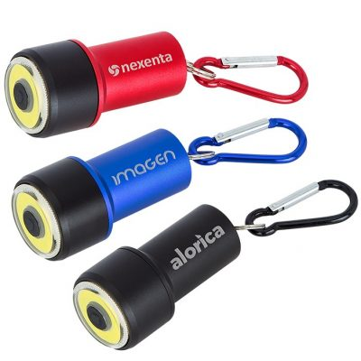Mini COB Flashlight with Carabiner