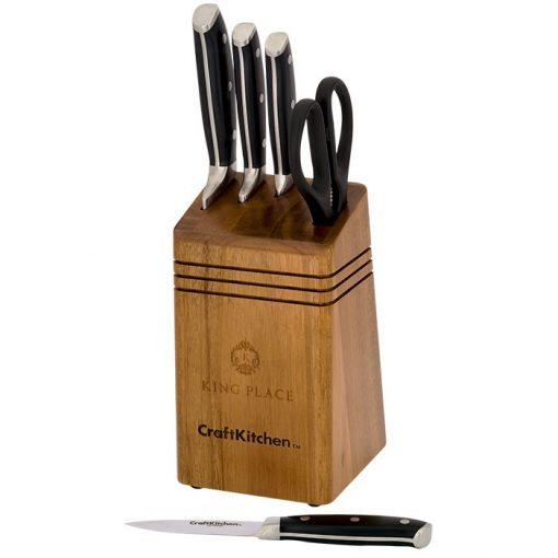 CraftKitchen™ 6 Piece Cutlery / Knife Block Set