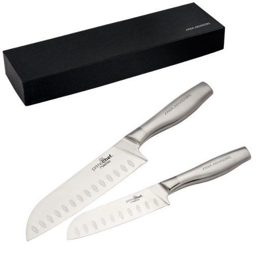 Prime Chef™ Stainless Steel 2 Piece Santoku Set