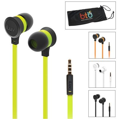 iLuv® Color Pop Tangle-Resistant Earbuds