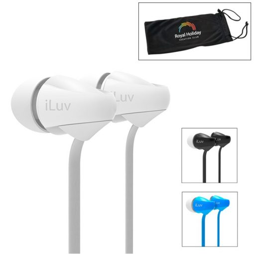 iLuv® Tangle-Resistant Earbuds