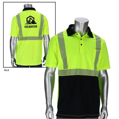 Class 2 Polo Shirt with Black Bottom Front