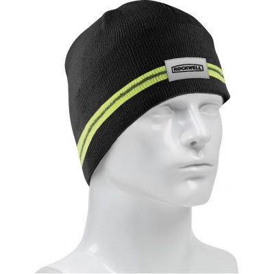 Winter Beanie with Reflective Stripe